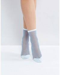 Chaussettes bleu clair Monki