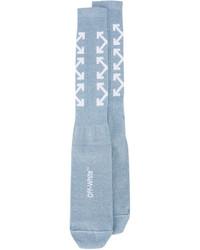 Chaussettes bleu clair Off-White