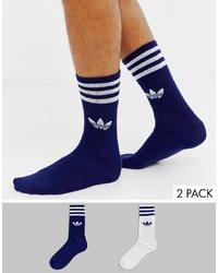 Chaussettes bleu marine adidas Originals
