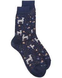 Chaussettes bleu marine Etro