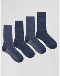 Chaussettes bleu marine Jack and Jones