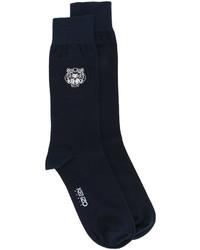 Chaussettes bleu marine Kenzo