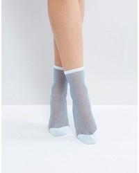 Chaussettes bleues claires Monki