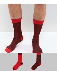 Chaussettes bordeaux Asos