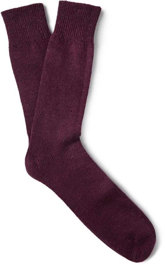 Chaussettes bordeaux