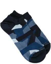 Chaussettes camouflage bleu marine Diesel