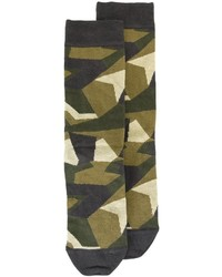 Chaussettes camouflage olive Diesel