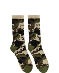 Chaussettes camouflage olive Juun.J
