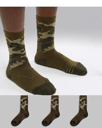 Chaussettes camouflage olive Nike Training