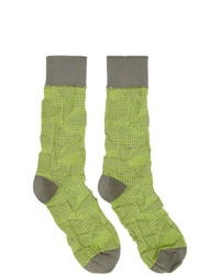 Chaussettes chartreuses Issey Miyake Men