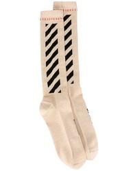 Chaussettes dorées Off-White