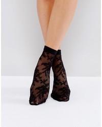 Chaussettes en dentelle noires Asos