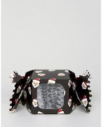 Chaussettes en jacquard noires Asos
