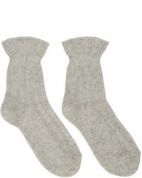Chaussettes en laine beiges A.P.C.