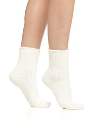 Chaussettes en laine blanches