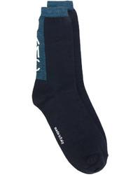 Chaussettes en laine bleu marine Oamc