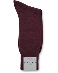 Chaussettes en laine bordeaux Falke