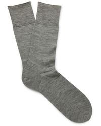 Chaussettes en laine grises Falke