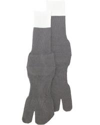 Chaussettes en laine grises Maison Margiela
