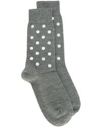 Chaussettes en laine imprimées grises No.21