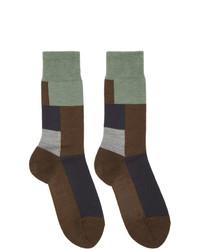 Chaussettes en laine marron foncé GR-Uniforma