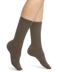 Chaussettes en laine marron