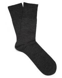 Chaussettes en laine noires Falke