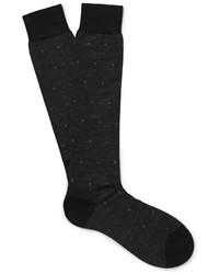 Chaussettes en laine noires Pantherella