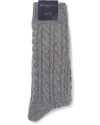Chaussettes en tricot grises