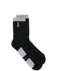 Chaussettes en tricot noires Rick Owens