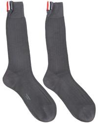Chaussettes gris foncé Thom Browne