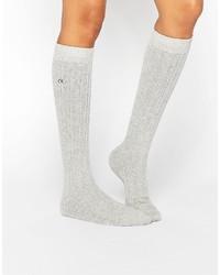 Chaussettes grises Calvin Klein