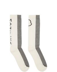 Chaussettes grises Moncler