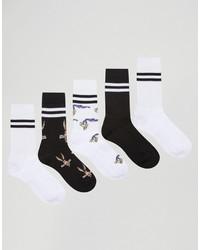 Chaussettes imprimées blanches Asos