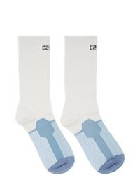 Chaussettes imprimées blanches C2h4