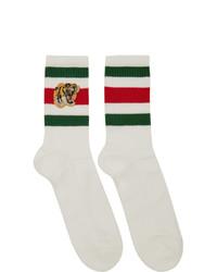 Chaussettes imprimées blanches Gucci