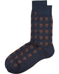 Chaussettes imprimées bleu marine