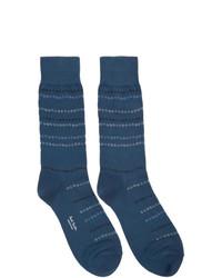 Chaussettes imprimées bleu marine Paul Smith