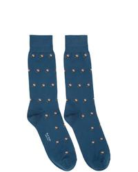 Chaussettes imprimées bleues Paul Smith
