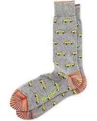 Chaussettes imprimées grises