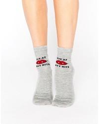 Chaussettes imprimées grises Asos