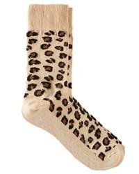 Chaussettes imprimées léopard beiges Asos