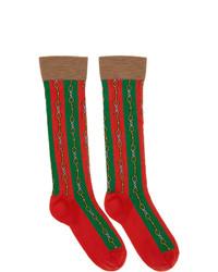 Chaussettes imprimées multicolores Gucci