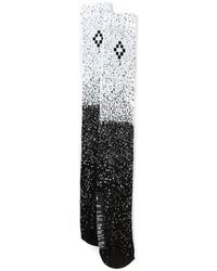 Chaussettes imprimées noires et blanches