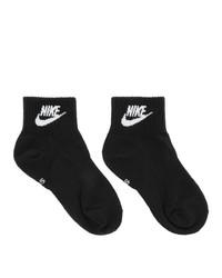 Chaussettes imprimées noires et blanches Nike