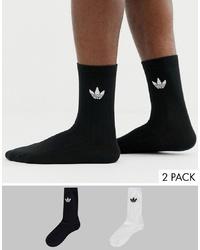 Chaussettes imprimées noires adidas Originals