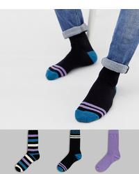 Chaussettes imprimées noires ASOS DESIGN