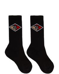 Chaussettes imprimées noires Burberry