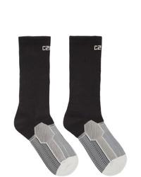 Chaussettes imprimées noires C2h4