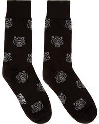 Chaussettes imprimées noires Kenzo